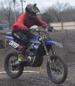 man riding dirtbike